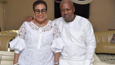 My wife Lordina has retired from active politics because she was traumatized by NPP lies in 2016- Mahama