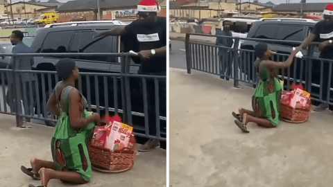 Pregnant Woman Selling Oranges Left In Tears After Rich Man Bought All Her Oranges, Gave Her A Hamper And Added A Sum Of Undisclosed Money To Start A Business- Watch Video
