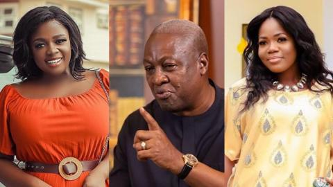 Mahama, Tracey Boakye, Mzbel love circle emanates days to Dec. Polls