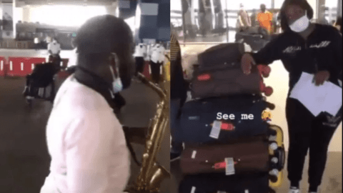 Tracey Boakye Invites Brass Band To Welcome Her At The Airport After Flying Business Class For The First Time – Video
