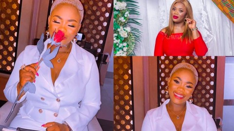 Kwaku Oteng's Last Wife Akuah Of Ghana Most Beautiful Displays Her Huge Shape In New Pictures