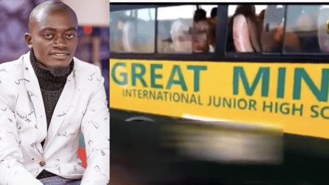Lil Win's school bus runs over 5year old girl; kills her instantly