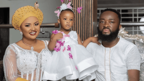 Nana Ama McBrown's Baby Maxin Celebrates Her Birthday In Church With Bunch Of Hampers To Congregants
