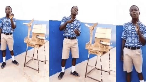 Ghanaian student develops object that can generate cheap electricity to stop Dumsor (Video)