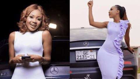 Akuapem Poloo leaves Nsawam Prison, en route to her home at Kasoa