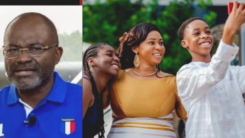 Adwoa Safo flaunts the kids she had with Ken Agyapong in beautiful family photos