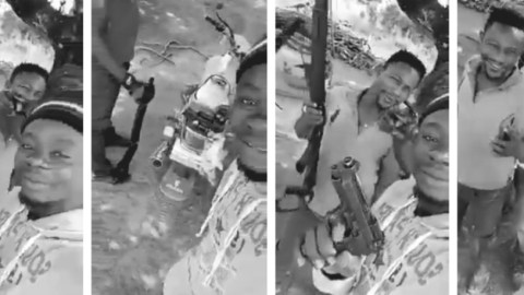 Armed Robbers Flaunting Guns Mistakenly Share Video On WhatsApp: They Were Warning The Public