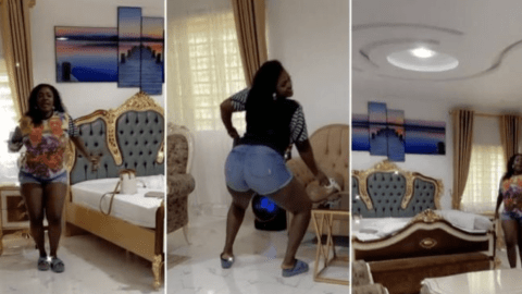 Tracey Boakye shakes her 'backa' vigorously in a manner that tells us she has landed a new 'Papa No'