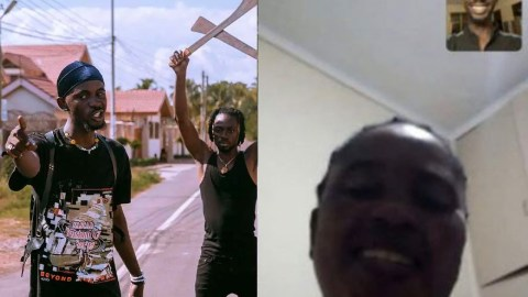 Black Sherif shares photo of Aunty Marie for the first time