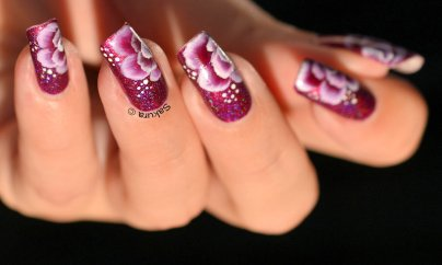 NAIL ART ONE STROKE FUSHIA 2
