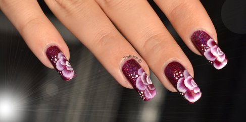 NAIL ART ONE STROKE FUSHIA 3