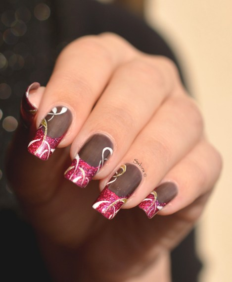 NAIL ART FRENCH CERCLES 2