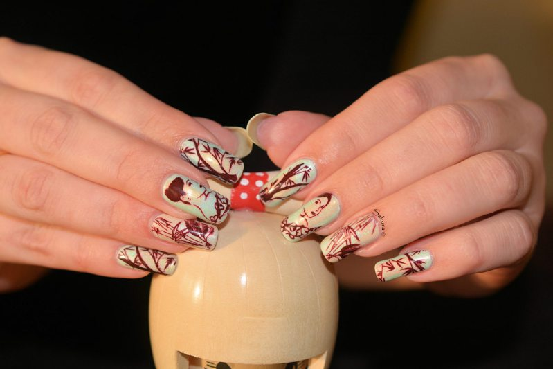NAIL ART JUNGLE ASIATIQUE 4