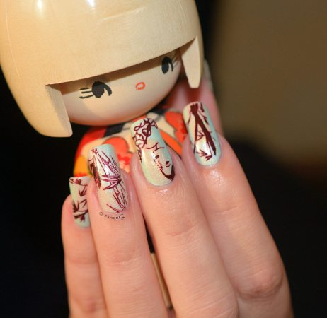 NAIL ART JUNGLE ASIATIQUE 7