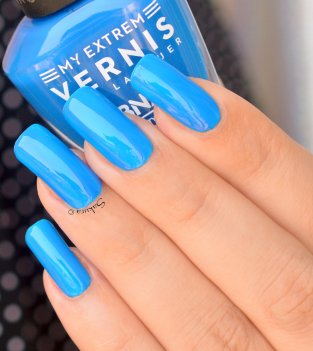 BEAUTY NAILS BLUE FLUO 5