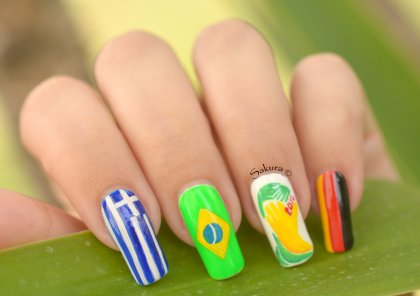 NAIL ART COUPE DU MONDE FOOTBALL 2
