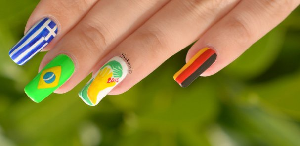 NAIL ART COUPE DU MONDE FOOTBALL 3