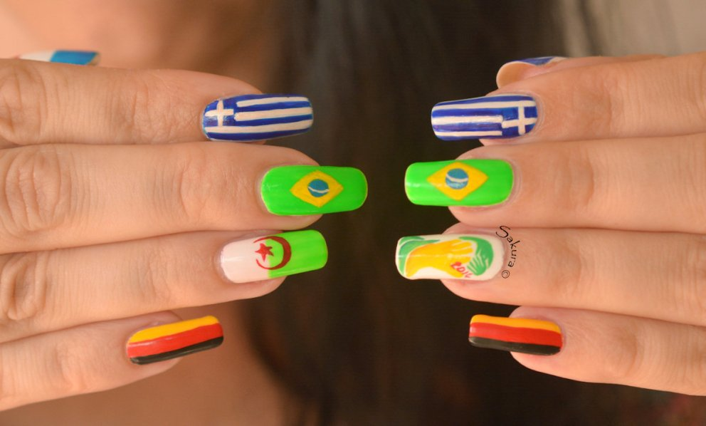 NAIL ART COUPE DU MONDE FOOTBALL 5