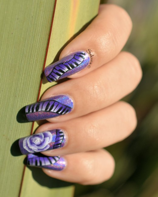 NAIL ART ONE STROKE MUSIQUE 5
