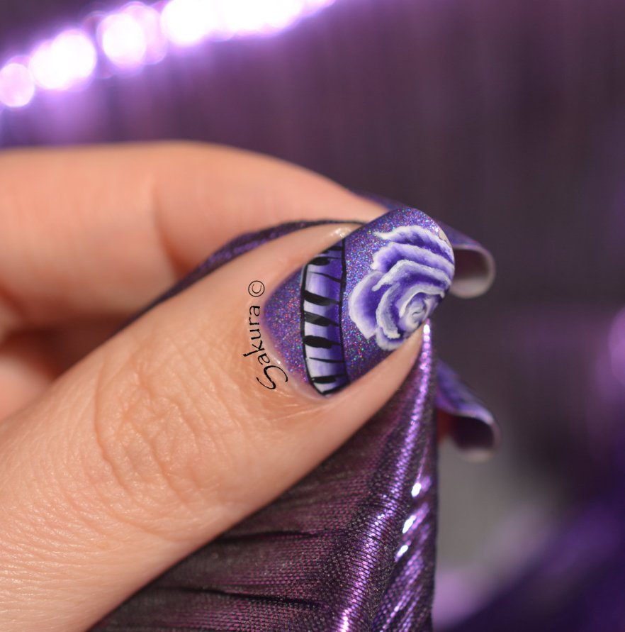 NAIL ART ONE STROKE MUSIQUE 6