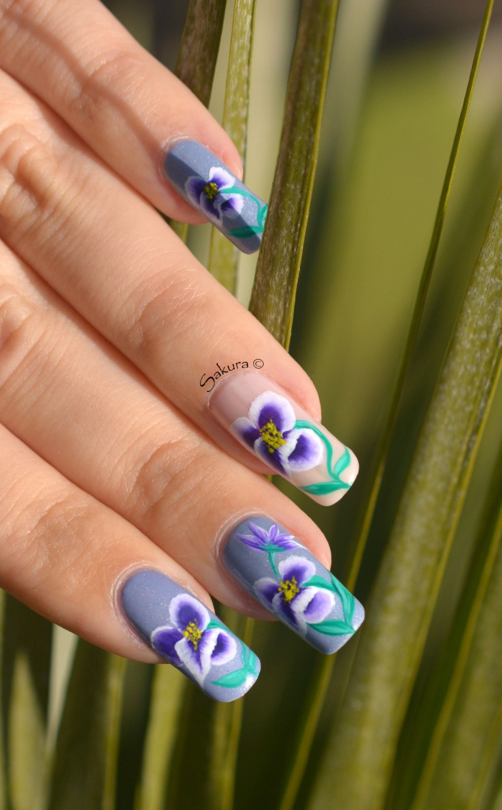 NAIL ART ONE STROKE PENSEES 5