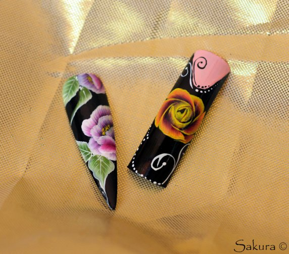 NAIL ART ONE STROKE ENTRAINEMENT JUIL 2014