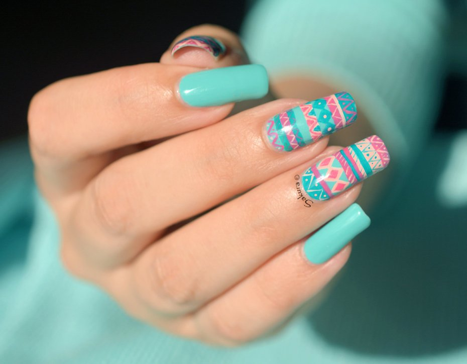 Nail Art Sweet Aztèque