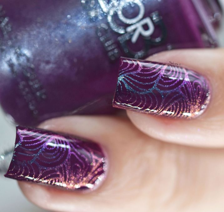 NAIL ART MULTICHROME VAGUES 2