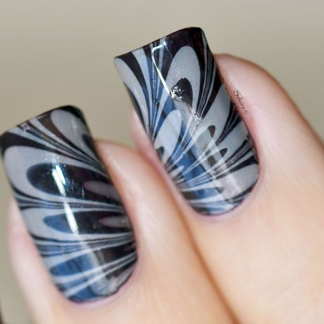 NAIL ART WATERMARBLE CAFE 4