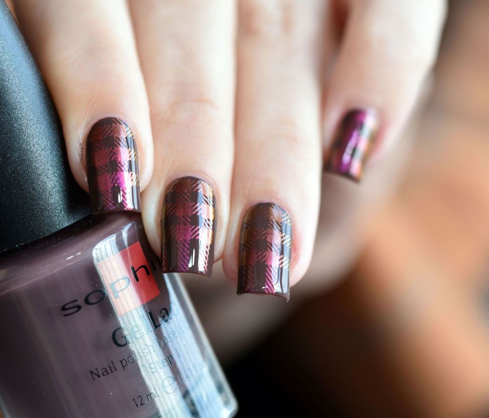 NAIL ART PLAID MULTICHROME