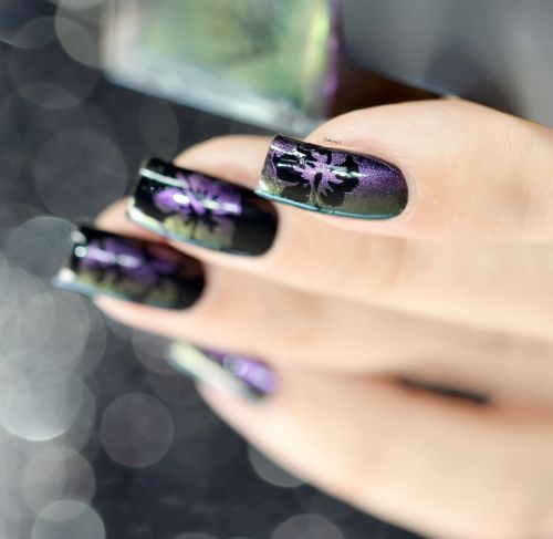 NAIL ART HIBISCUS CAMOUFLAGE 9