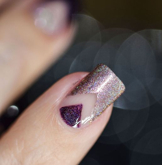 NAIL ART 2018 WINE HOLO BOX 6