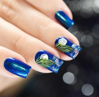 NAIL ART MOONLIGHT ON THE WATER 8