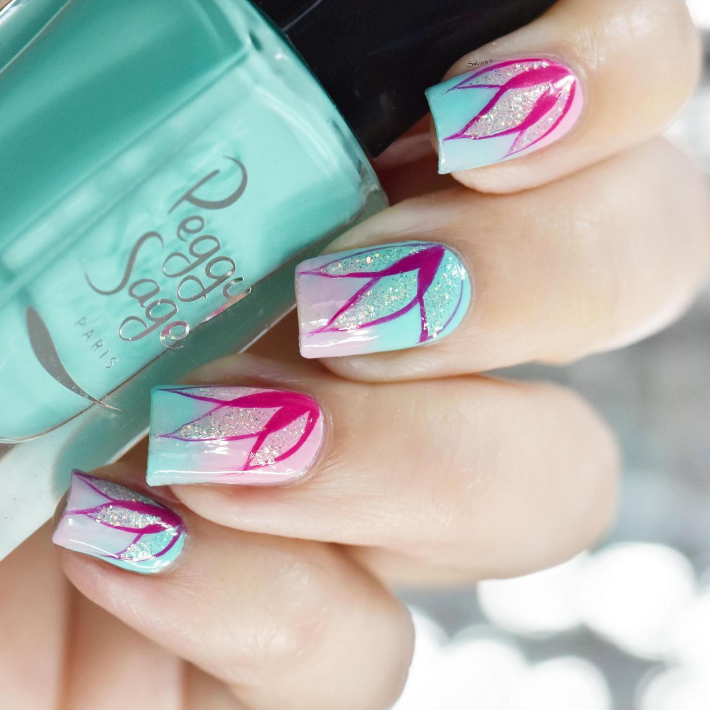 NAIL ART PETALES DEGRADEES 3