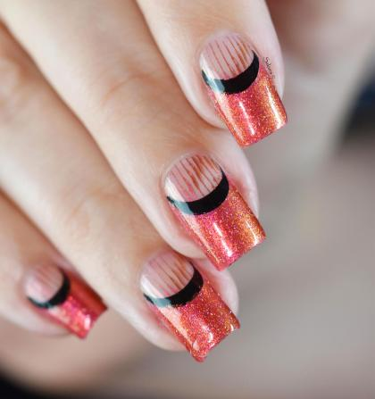 NAIL ART ROUGE ORANGE 6