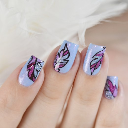 NAIL ART FEATHER 10