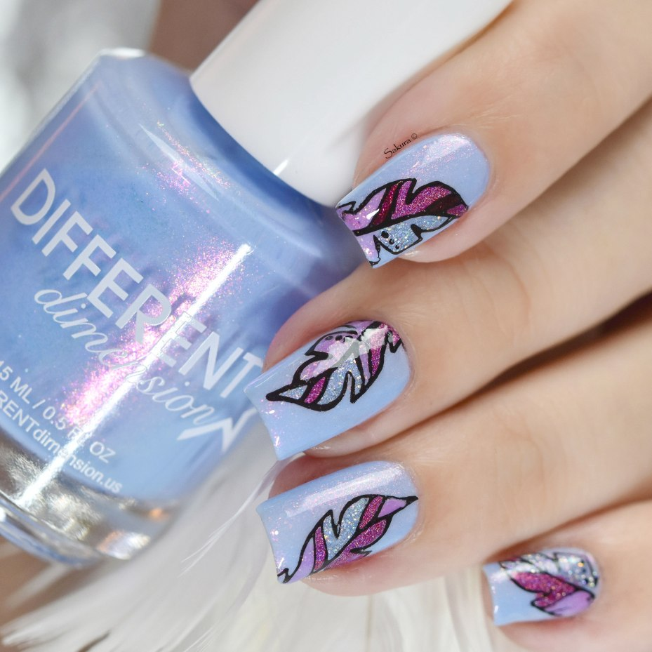 NAIL ART FEATHER 5