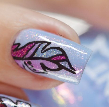 NAIL ART FEATHER 7