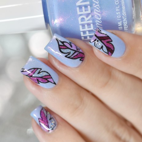NAIL ART FEATHER 9