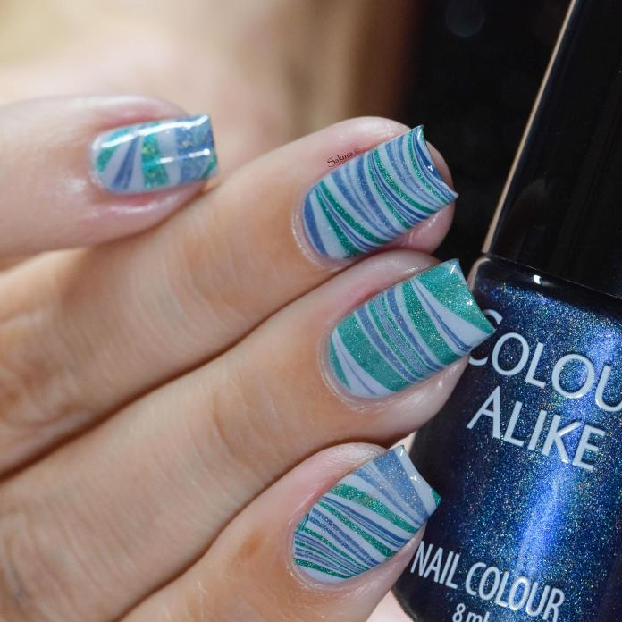 WATERMARBLE BLUE HOLO FASHION 4