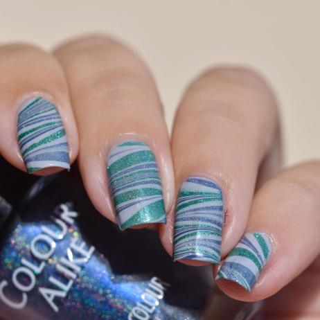 WATERMARBLE BLUE HOLO FASHION 6