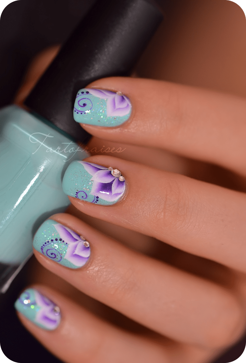 5 nail art one stroke sur ongles courts partie 2 - Vernis ongle court ...