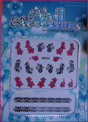 water decal violet 002