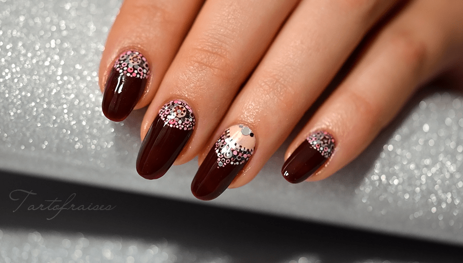 Vid o panic nail art ongles chic et luxe avec des points - Nail art chic ...