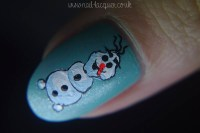 Olaf the snowman tutorial - Nail Lacquer UK