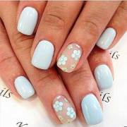 cute simple spring nail design