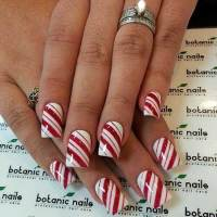 Christmas Nail Designs Red and White - Nail Art Designs 2017