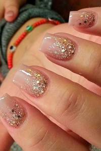 22 Unique Summer Sparkle Nail Designs - Nail Art Designs 2017