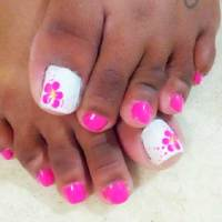 Simple Pink Toe Nail Designs - Nail Art Designs 2017