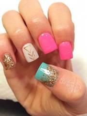 27 square acrylic nails design